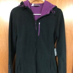 Athleta Swarma Jacket black purple medium NWT